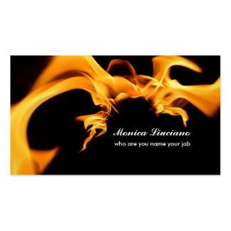 fire sign business card