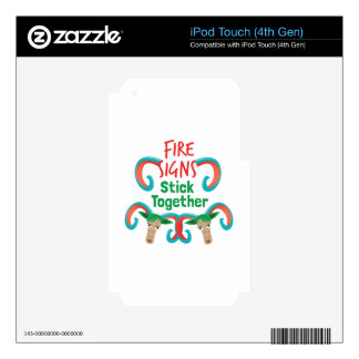 Fire Sign iPod Touch 4G Decal