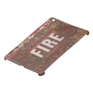 Fire sign on rusted steel plate. Gift for fireman? iPad Mini Cover