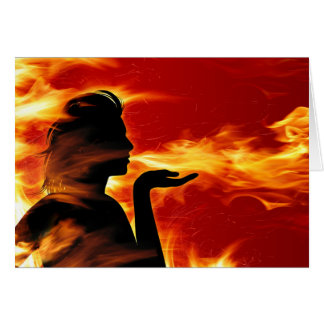 Fire Silhouette Greeting Card