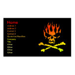 Fire Skull Business/ Profile Card Double-Sided Standard Business Cards (Pack Of 100)