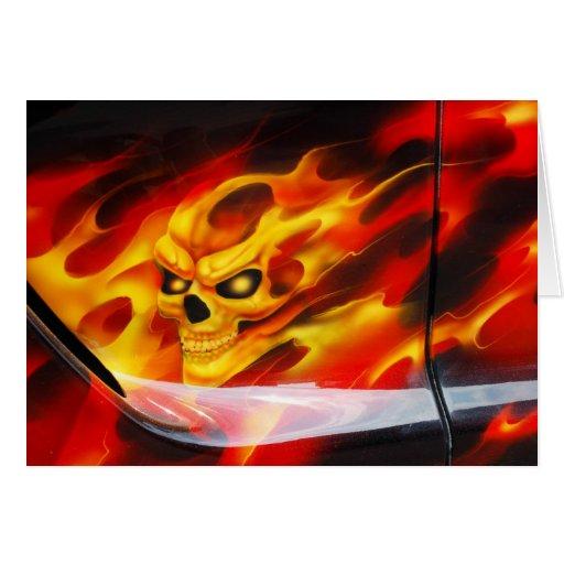 Fire Skull Card