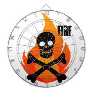 fire skull dartboard