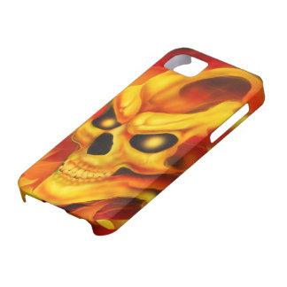 Fire Skull I Phone Case