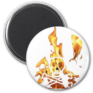 Fire Skull Magnet