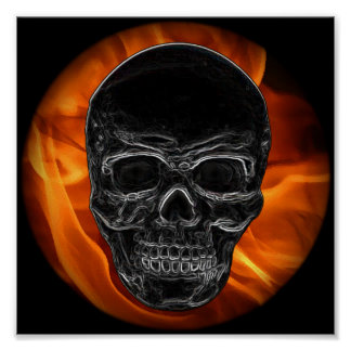 Fire Skull Posters