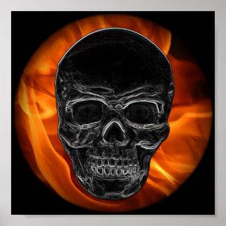 Fire Skull Poster