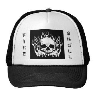 Fire Skull Trucker Hat