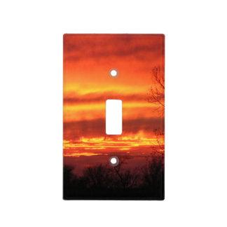 Fire Sky Light Switch Plate