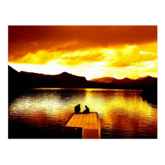 Fire Sky on the Pier - Postcard