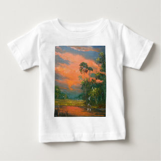 Fire Sky over the Pond Baby T-Shirt