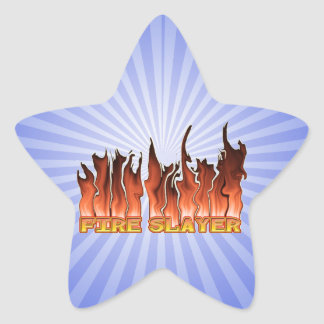FIRE SLAYER FIRE FIGHTER'S NICKNAME STAR STICKER