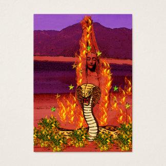 Fire Snake Woman Business Card