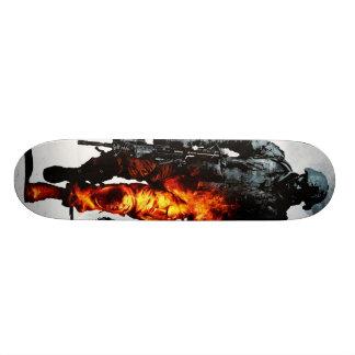 fire soldier custom skateboard