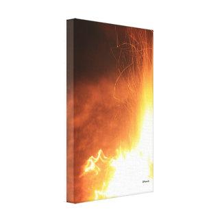 Fire Sparkle Canvas Print