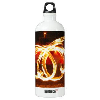 Fire Spinning - Dragon Staff Aluminum Water Bottle