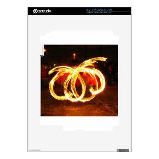 Fire Spinning - Dragon Staff iPad 2 Decal