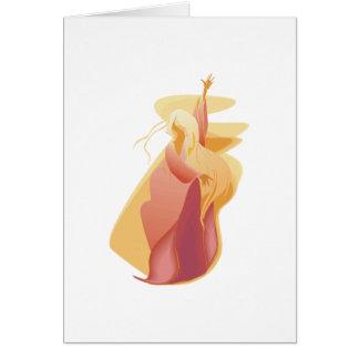 fire spirit goddess greeting card