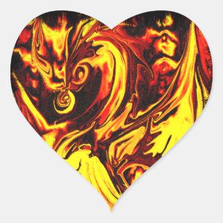 Fire Spirit Heart Sticker