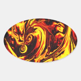 Fire Spirit Oval Sticker