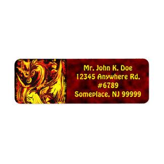 Fire Spirit Return Address Label