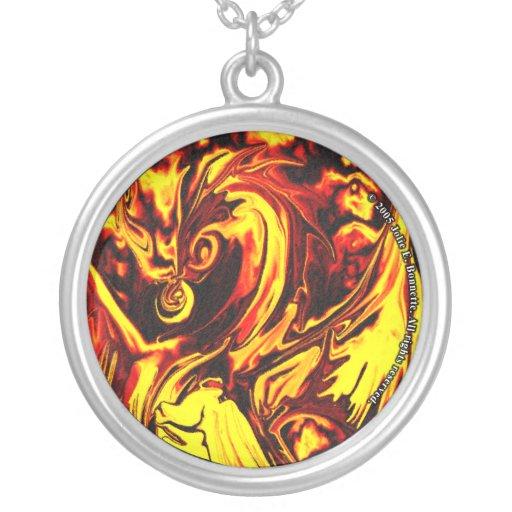 Fire Spirit Round Necklace