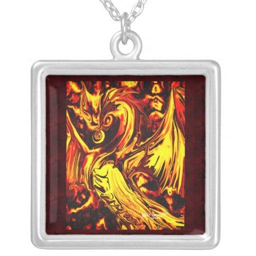 Fire Spirit Square Necklace