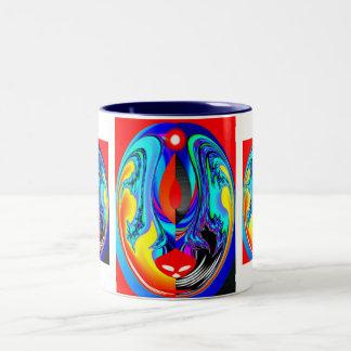 Fire spirit Two-Tone coffee mug