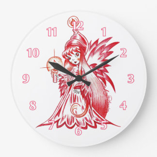 Fire Sprite Large Clock