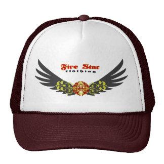 Fire star Cap-wings(gray+red) Trucker Hat