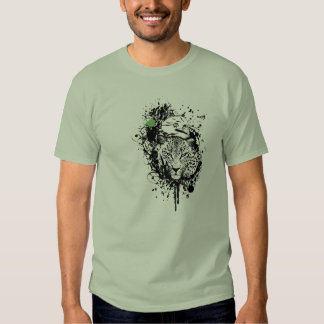 """Fire Star Clothing """"Nature's Watching"""" Green Tee"""