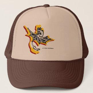 Fire Star Dragon Hat(Black/white/yellow/red) Trucker Hat