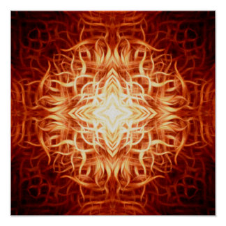 Fire Star Tapeworm Lattice And Filigree Poster