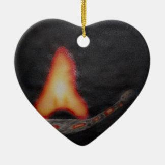 fire starter ceramic ornament