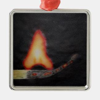 fire starter metal ornament