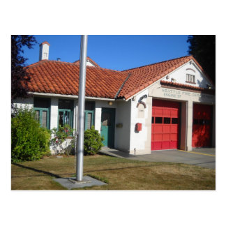 Fire Station #37, old Postcard