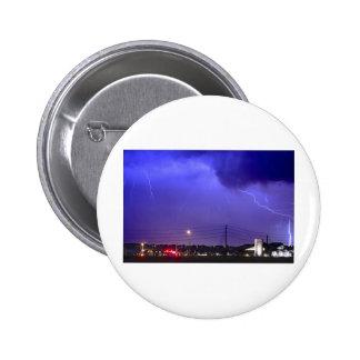 Fire Station 67 Lightning Storm Pinback Button