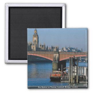 Fire Station on Thames, Lambeth Bridge, London Refrigerator Magnets