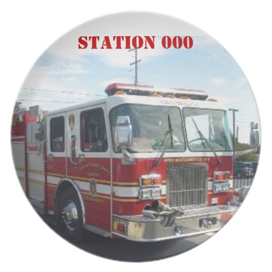 Fire-station plate