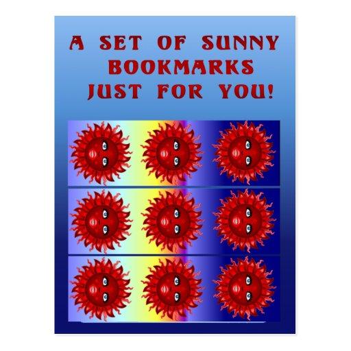 Fire Sun Bookmark Postcard