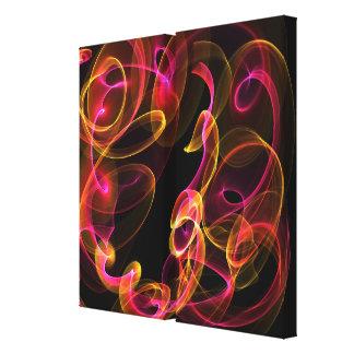 Fire swirl canvas prints