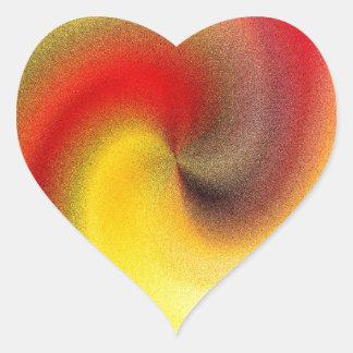 Fire Swirl Heart Sticker