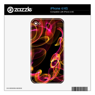 Fire Swirl Zazzle Skin Decal For The iPhone 4S