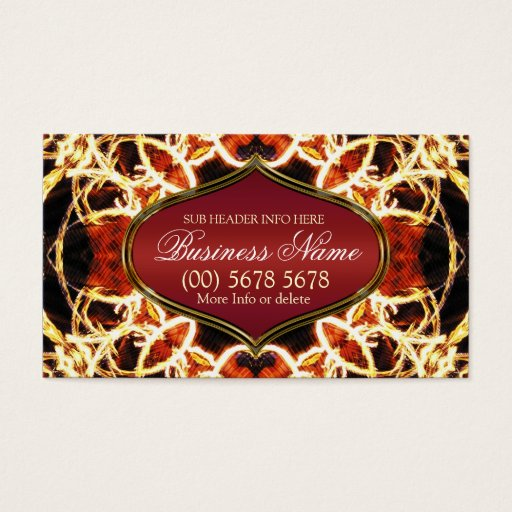 Fire Swirls Geometric Art Business Card