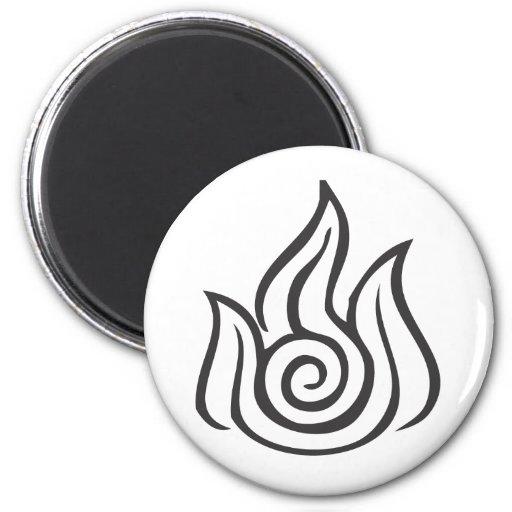 Fire Symbol 2 Inch Round Magnet