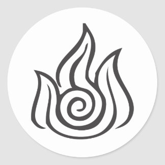 Fire Symbol Classic Round Sticker