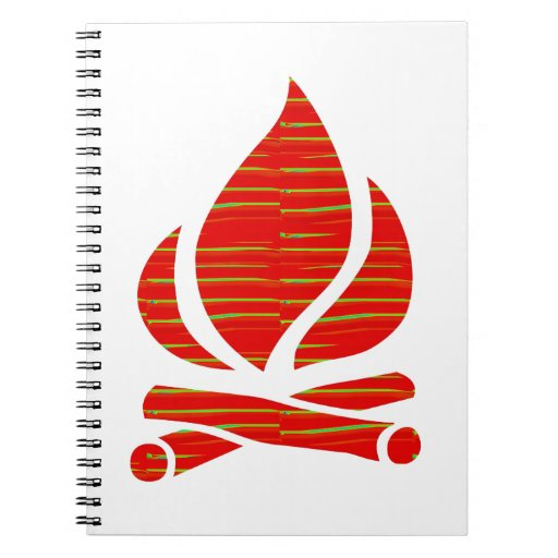 FIRE symbol of POSITIVE Spirit n PURE Energy - Enj Notebooks