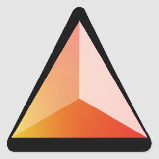 Fire tetrahedron triangle sticker