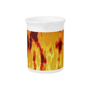 Fire texture drink pitcher