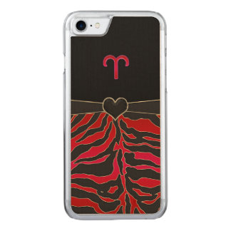 Fire Tiger Zodiac Sign Aries Carved iPhone 8/7 Case
